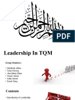 Leadership TQM and Deming 14 Point