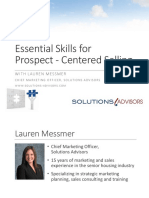 Essential Skills for Prospect Centered Selling