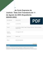 Jurisprudencia Resolucion tribunales peru