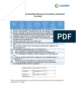 Cuestionario MBI