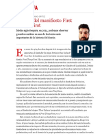 50 años del manifiesto First Things First | Samuel López-Lago Ortiz | FOROALFA