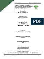 Reactivos de Dipositivos 2012