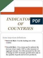 Indicators of Countries