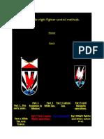 Luftwaffe Night Fighter Control Methods