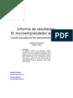 Informe de Resultados El Microemprendedor en Chile