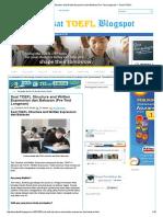 Soal TOEFL Structure and Written Expression Dan Bahasan (Pre-Test Longman) _ Pusat TOEFL