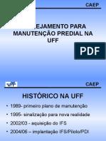 Planejamento Para Manuntencao Predial Corretiva e Preventiva Uff Luiz Augusto Cury Vasconcelos