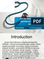 JOURNAL READING I - Acute Post-Infectious Glomerulonephritis in Adults