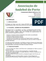Comunicado of 01 - Inicio Epoca