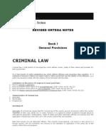 Revised Ortega Notes