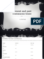 Present and Past Continuous Tense