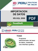Importacion de Datos_toad