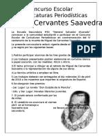 Convocatoria Para Concurso, Quijote