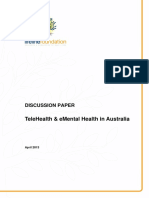 Discussion Paper - Telehealth Directions for EMental Health in Australia