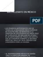 Bachillerato en México