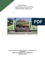 Proposal Jalan Beton