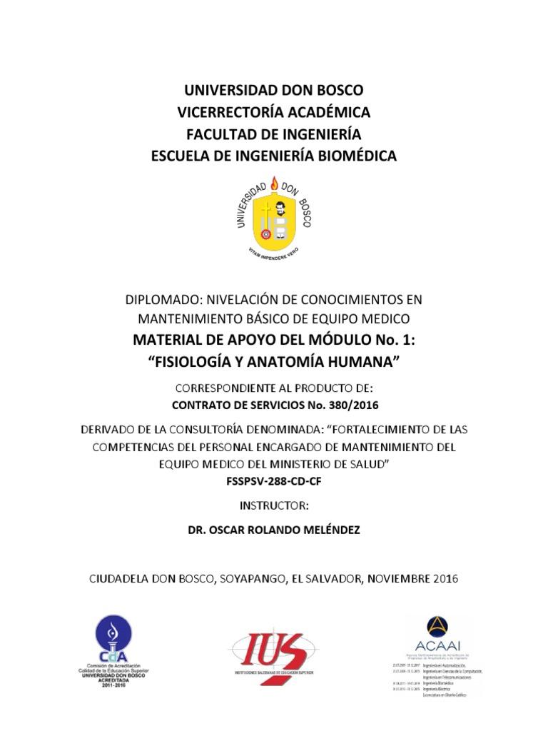 Material de Apoyo Modulo No. 1 Anatomia y Fisiologia Humana