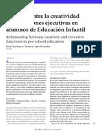 relacion entre creatividad y funcion ejecutiva