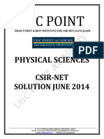 Csir June 2014 Solved Paper Physical Science