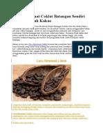 Cara Membuat Coklat Batangan Sendiri Dari Biji Buah Kakao 2016