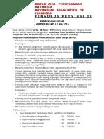 Program Pembekalan Dasar Sertifikasi IAP 2016 Angkatan 74