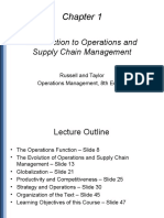 Chapter 01 Russel & Taylor - Operations Management