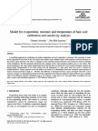 Model for Evaporation Moisture and Temperature of Bare Soil Calibration and Sensitivity Analysis