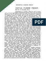 (1928 Oct.) the Churchman 42.4, The Medieval Parish Priest [H.P. Palmer]