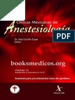 Anestesia Para Procedimientos Fuera Del Quirofano