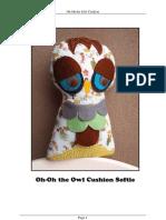 Oh-Oh Owl Cushion Softie