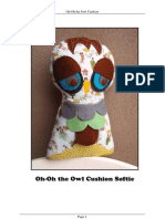 Oh-Oh Owl Cushion Softie