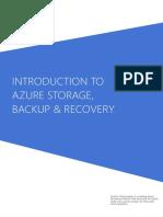 Azure Storage Backup Recovery