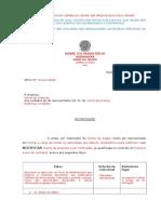 Modelo de Oficio Sobre Eventual Penalidade e Rescisao Para Defesa Ctto Decorrente de Pregao