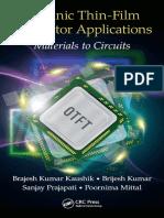 Organic Thin-Film Transistor Applications Materials to Circuits