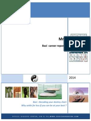 Bazi Career Report SAMPLE | Wood | Leadership