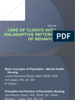 Care of Clients With Maladaptive Patterns of Behavior