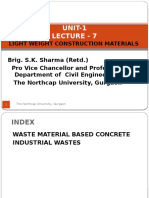 Unit-1 Lecture-7- Light Weight Construction Materials by Brig. S.K. Sharma