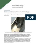 The Power of Sheet Metal Design