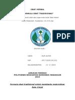 Formula Obat Herbal (Batu Ginjal )