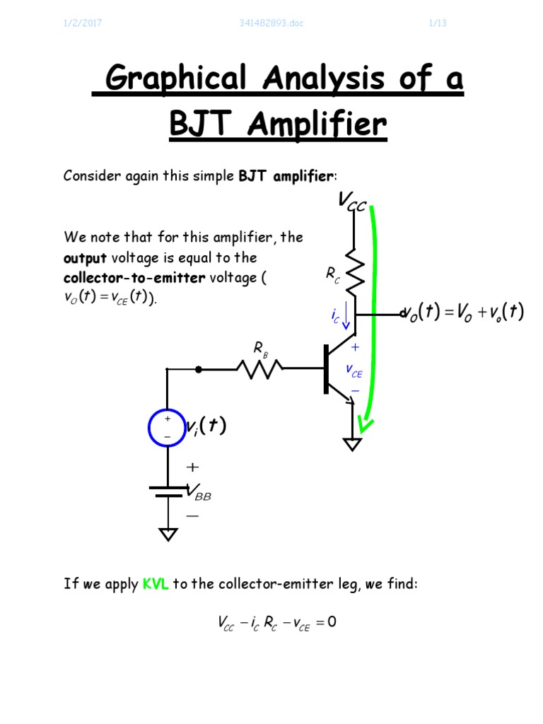 board elex A Graphical Analysis of a BJT Amplifier (1