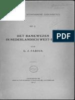 Het bankwezen in Nederlandsch West-Indië / door G.J. Fabius