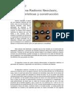 Máquina Radionic Neoclasic, Características y Construcción