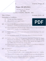 (Www.entrance-exam.net)-PTU M.tech in Production Engineering Metal Casting Sample Paper 1