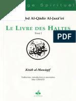 'Abd Al-Qâdir al-Jazâ'irî, Livre Des Haltes Tome 1 - trad. Max Giraud
