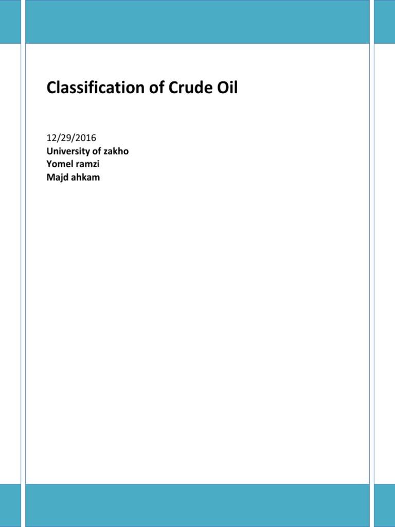 Crude Oil Classification - Copy   Fuel Oil   Petroleum