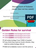Inpatient Management of Diabetes