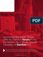 Oy Danfoss Ab Tender Offer Brochure 25 September 2