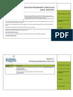 Foundation Year Curriculum