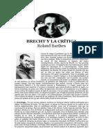 Bertold Brecht e a Critica
