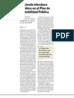Hacienda introduce cambios en el Plan de Contabilidad Pública